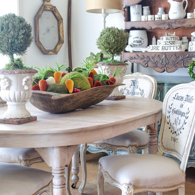 Adding A Touch of Spring to the Breakfast Room   Edith & Evelyn   www.edithandevelynvintage.com