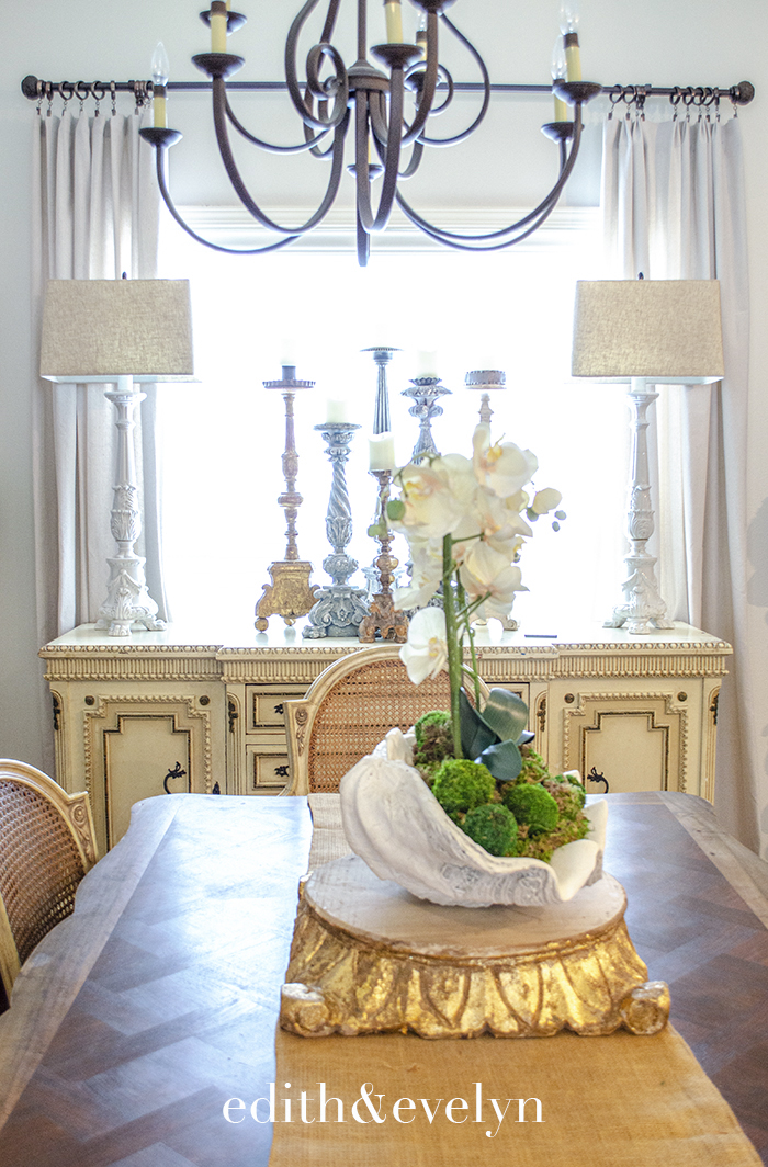 A French Sideboard in the Dining Room | Edith & Evelyn | www.edithandevelynvintage.com