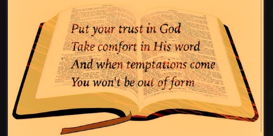 Trusting poems god about Poems About