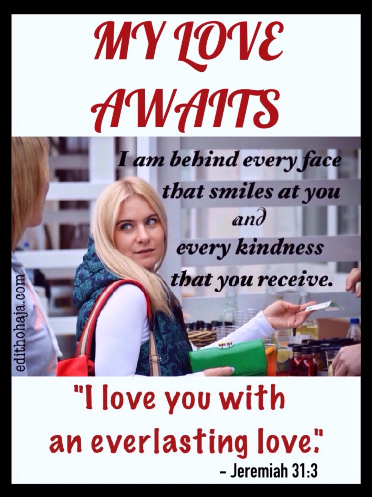 MY LOVE AWAITS (POEM)
