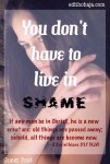 YOU DONT HAVE TO LIVE IN SHAME by KARISSA SMITH