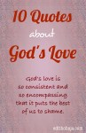 10 QUOTES ABOUT GOD'S LOVE