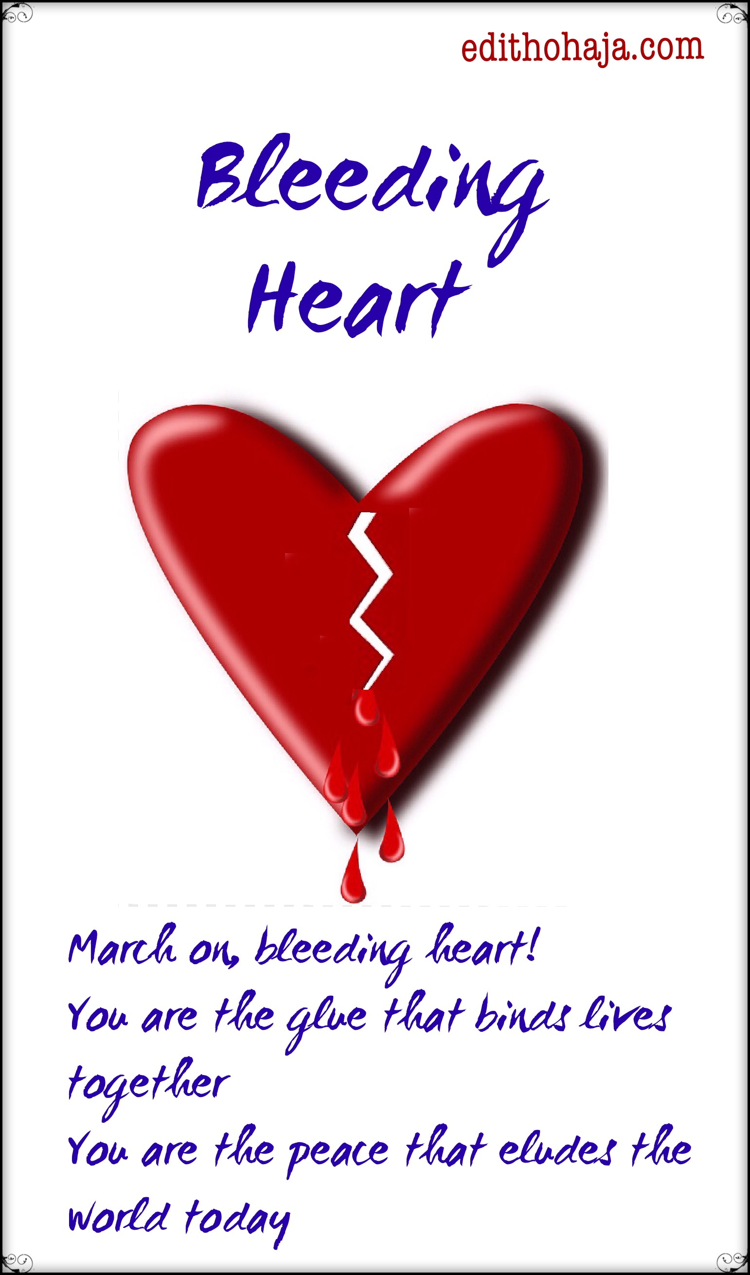 BLEEDING HEART (POEM)