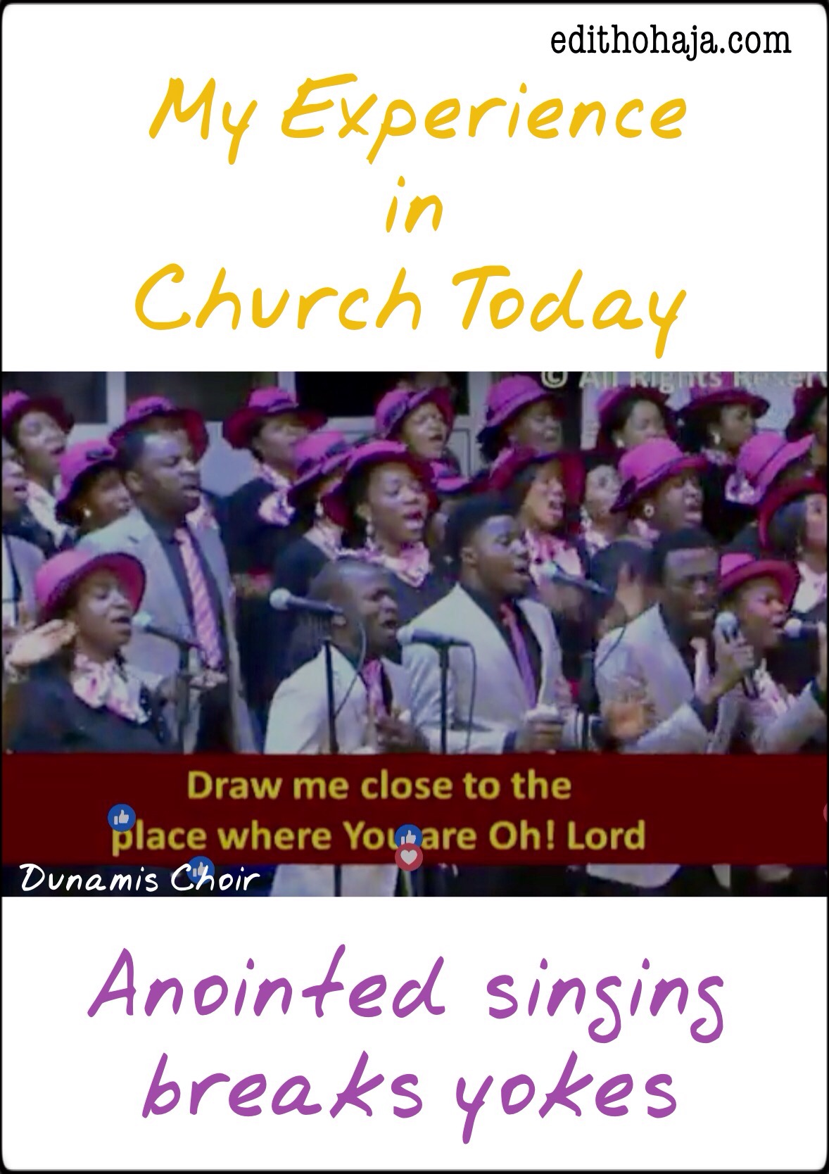 MY EXPERIENCE IN CHURCH TODAY: Anointed Singing Breaks Yokes