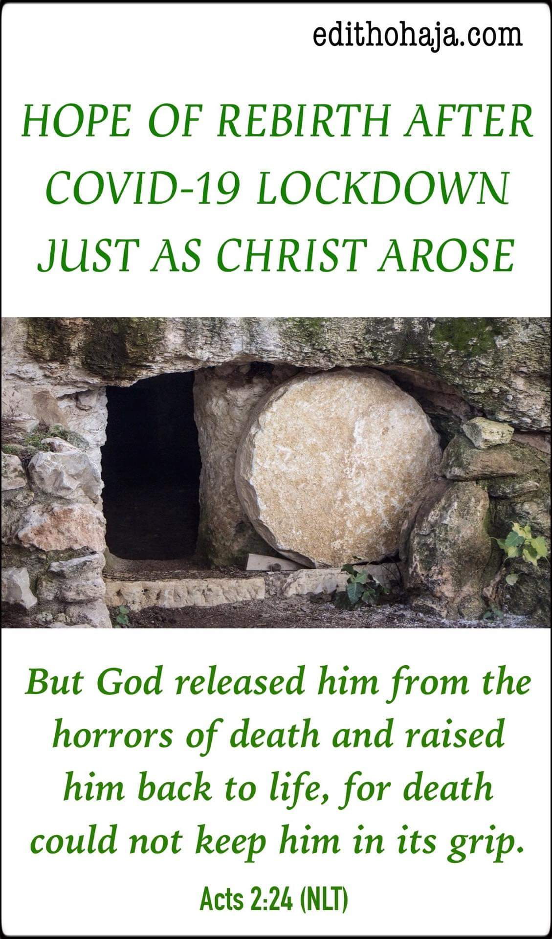 Easter Message: HOPE OF REBIRTH AFTER COVID-19 LOCKDOWN JUST AS CHRIST AROSE