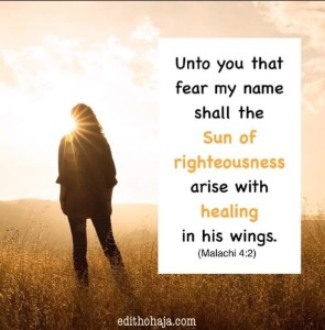 Sun of righteousness arise with healing in his wings