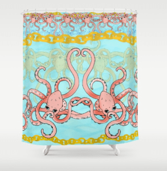 Octopi Shower Curtain available at Society6