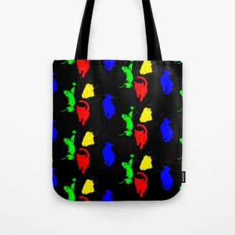 primary-colored-cats-on-black-bags