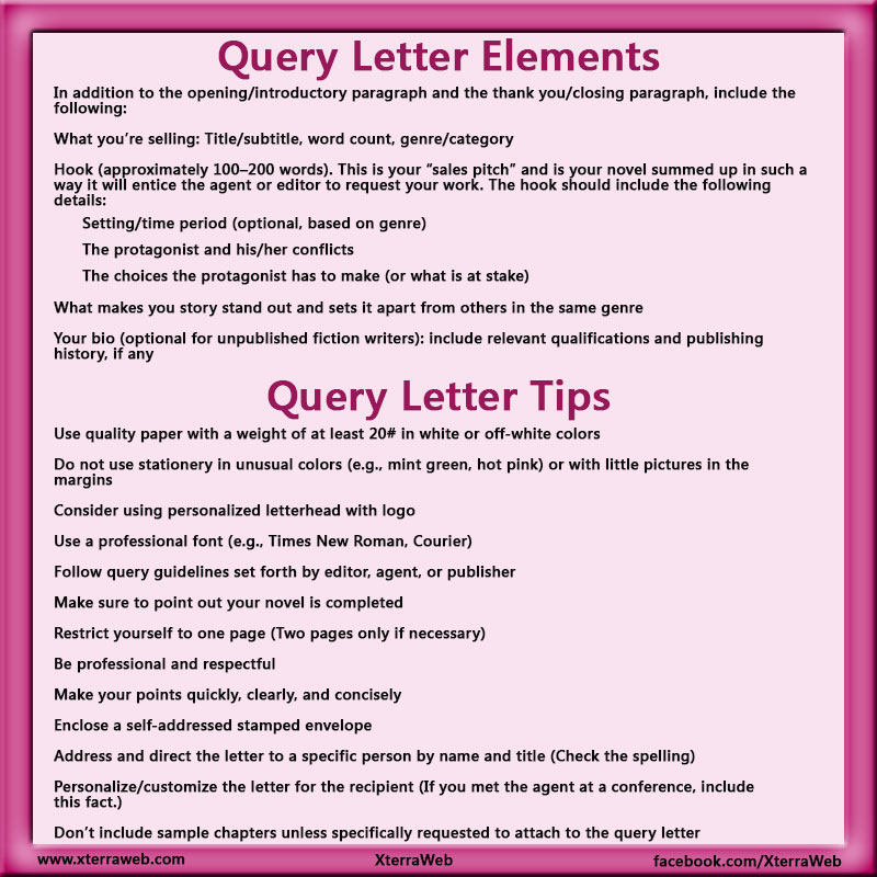 Query letter tips xterraweb query letter elements of a query letter query letter tips how to write thecheapjerseys Images