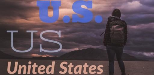 US, U.S., or United States