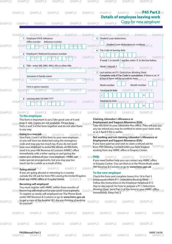 Sample Documents UK  AIB UK  P60 Paper  Tax Code  Tax
