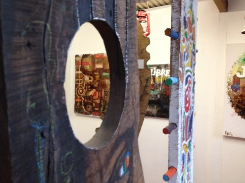 photo prise à l'occasion de l'exposition de Christophe Mert...
