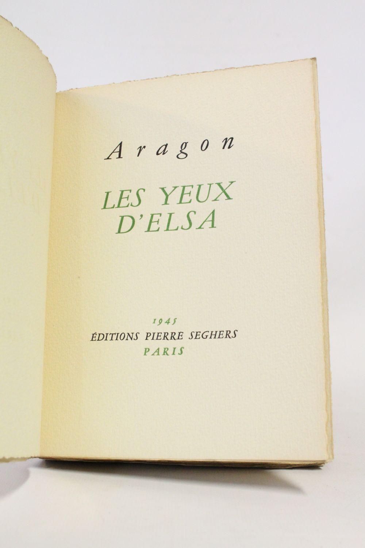 Louis Aragon Les Yeux D Elsa : louis, aragon, ARAGON, D'Elsa, Edition-Originale.com