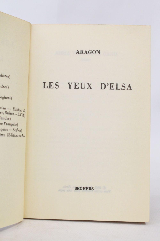Louis Aragon Les Yeux D Elsa : louis, aragon, ARAGON, D'Elsa, Signed, Edition-Originale.com