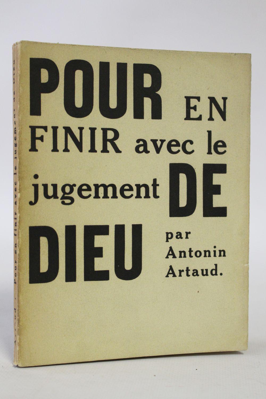 Pour En Finir Avec Le Jugement De Dieu : finir, jugement, ARTAUD, Finir, Jugement, First, Edition, Edition-Originale.com
