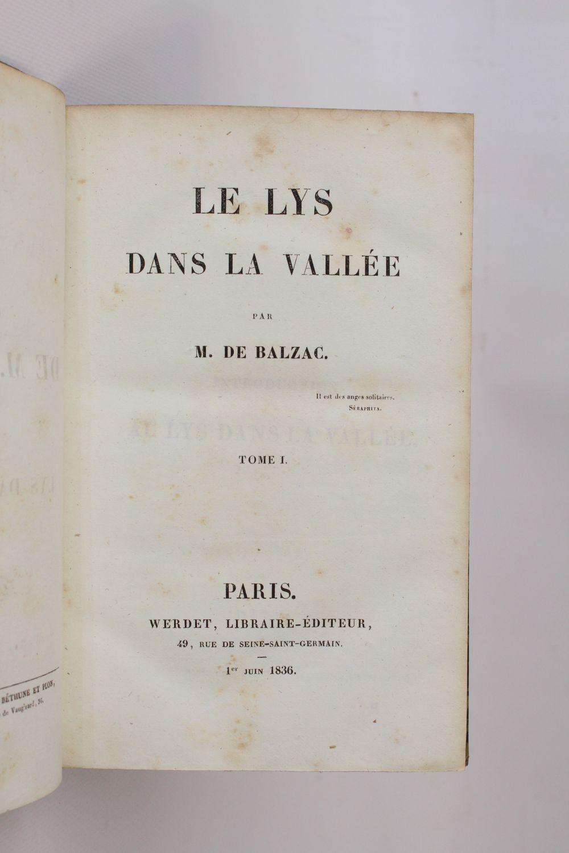 Balzac Le Lys Dans La Vallée : balzac, vallée, BALZAC, Vallée, First, Edition, Edition-Originale.com