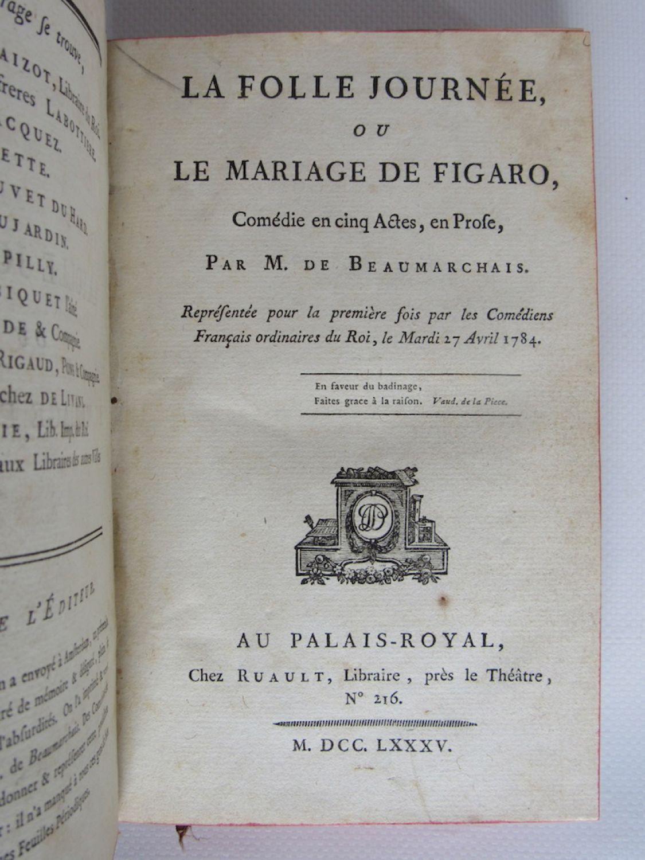 La Folle Journée Ou Le Mariage De Figaro : folle, journée, mariage, figaro, BEAUMARCHAIS, Folle, Journée, Mariage, Figaro, First, Edition, Edition-Originale.com