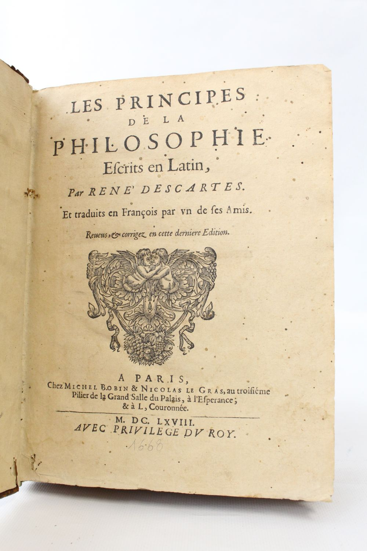 Descartes Principes De La Philosophie : descartes, principes, philosophie, DESCARTES, Principes, Philosophie, Edition-Originale.com
