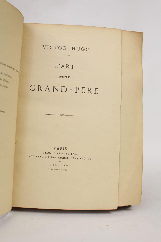 Victor Hugo L'art D'être Grand Père : victor, l'art, d'être, grand, père, L'art, D'être, Grand-père, First, Edition, Edition-Originale.com