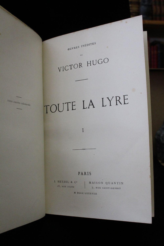 Toute La Lyre Victor Hugo : toute, victor, Toute, First, Edition, Edition-Originale.com