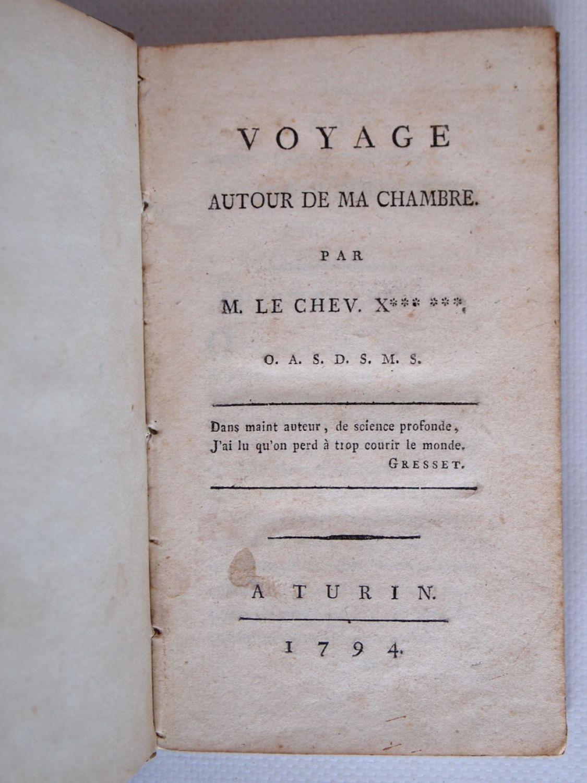Voyage Autour De Ma Chambre : voyage, autour, chambre, MAISTRE, Voyage, Autour, Chambre, First, Edition, Edition-Originale.com