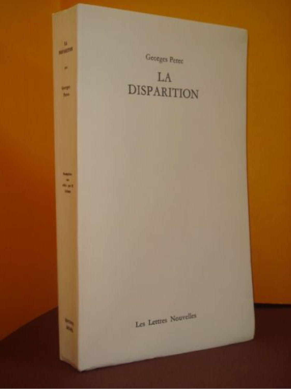 La Disparition De Georges Perec : disparition, georges, perec, PEREC, Disparition, First, Edition, Edition-Originale.com