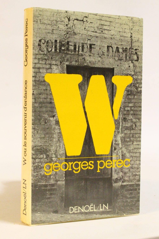 Georges Perec W Ou Le Souvenir D Enfance : georges, perec, souvenir, enfance, PEREC, Souvenir, D'enfance, First, Edition, Edition-Originale.com