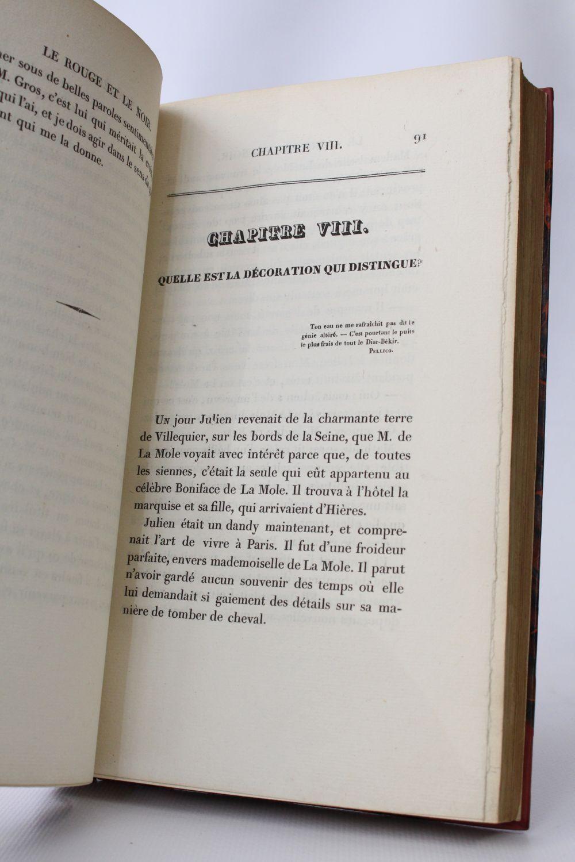 En Rouge Et Noir Parole : rouge, parole, STENDHAL, Rouge, First, Edition, Edition-Originale.com