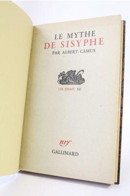 Camus Le Mythe De Sisyphe : camus, mythe, sisyphe, CAMUS, Mythe, Sisyphe, First, Edition, Edition-Originale.com