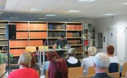 Tami Weissenberg in der Geraer Stadtbibliothek: ein Rückblick