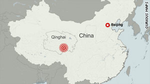 The earthquake struck China's Qinghai province.