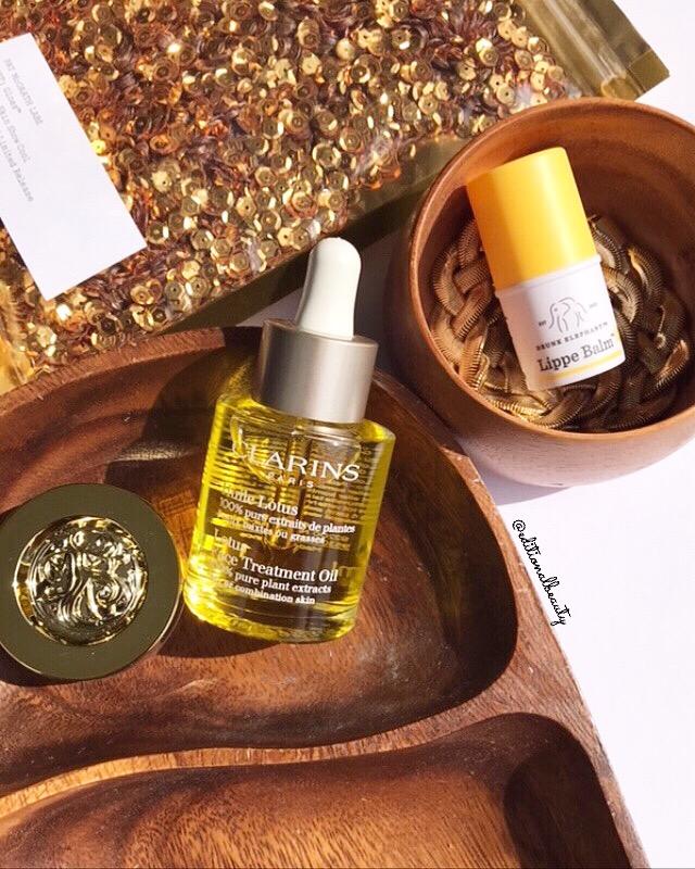 clarins lotus face treatment oil