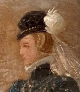 Charlotte de la Marck - détail du tableau de Félix Philippoteaux