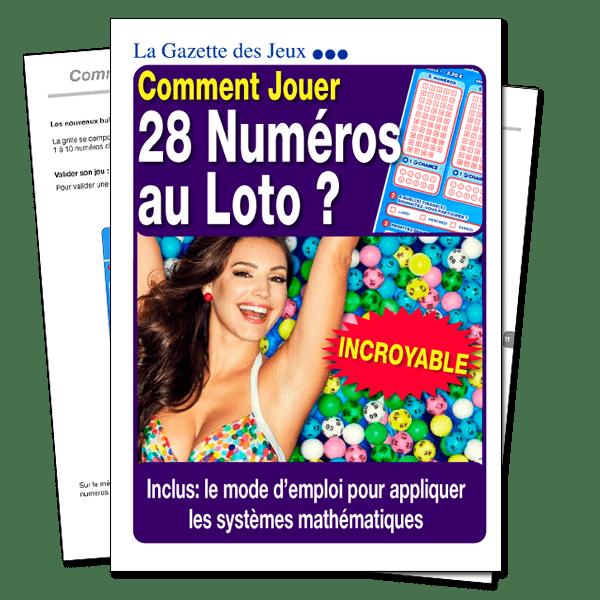 comment jouer 28 numéros au loto