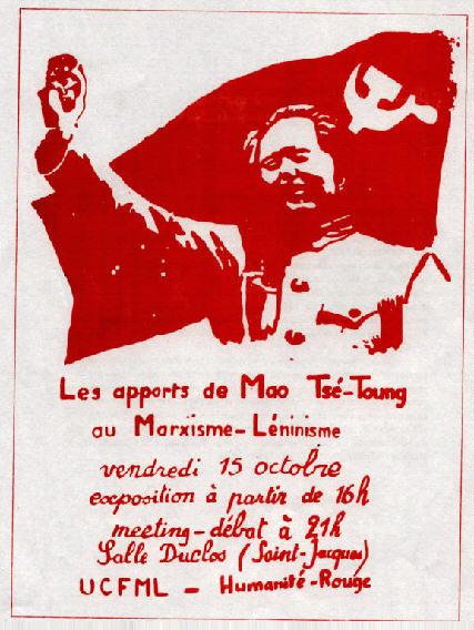 El alcance universal de la Revolución Cultural (1975) – Documento del Grupo para la Fundación de la Unión de los Comunistas de Francia Marxista-Leninista (U.C.F.M.L.) P085