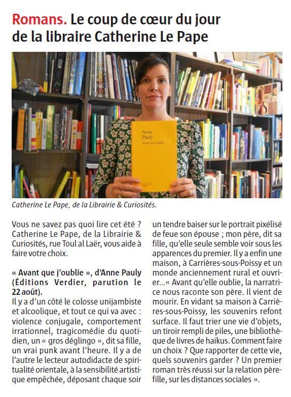 Anne Pauly Avant Que J'oublie : pauly, avant, j'oublie, Avant, J'oublie, Editions, Verdier
