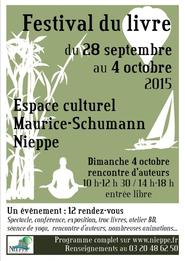 Affiche festival du livre