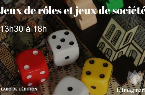 Jeux de rôles et jeux de société de 13h30 à 18h