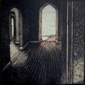"Andrea Knarr ""Passage"" etching & aquatint 5x5 inches"