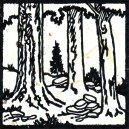 "Kurt Mohr ""Woods"" woodcut 5x5 inches"