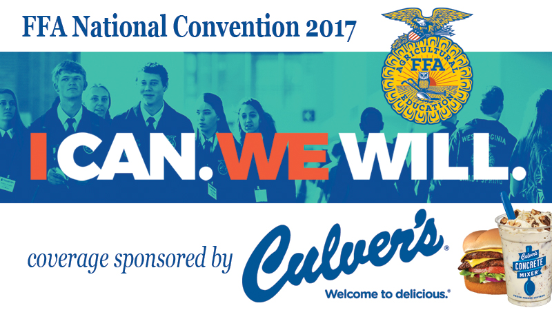 FFA National Convention 2017, coverage sponsored by Culver's