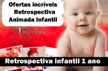 retrospectiva 1 ano infantil