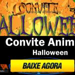 Convite Animado dia das bruxas