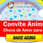 Convite Animado Chuva de Amor