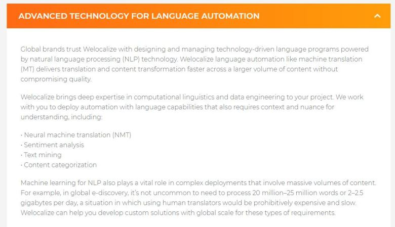 WeLocalize Natural Language Programming