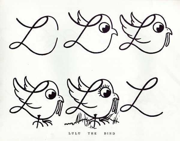 Vintage Book Shows How To Write The Alphabet With Charming