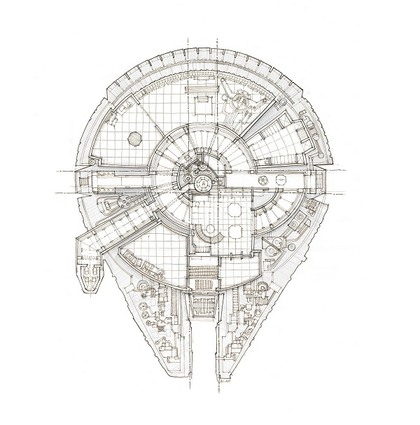 Galactic 'Blueprints' Of The X-Wing Fighter And Other
