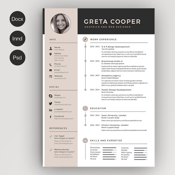 Creative Rsum Templates That You May Find Hard To Believe Are Microsoft Word  DesignTAXIcom