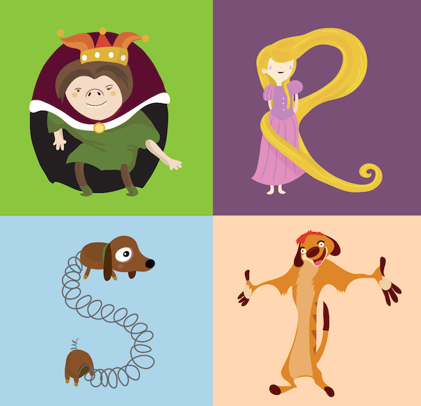 Disney PixarThemed Alphabet With Characters Cleverly