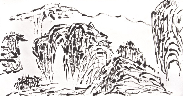 Artist Creates Traditional Chinese Landscape Ink Paintings